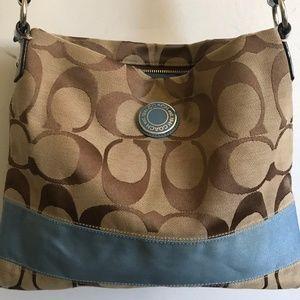 COACH Medium Interwoven Jacquard Bag - Blue